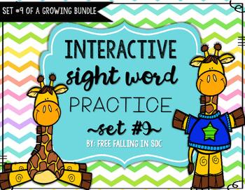 Interactive Sight Word Practice-SET #9 (activities, games,