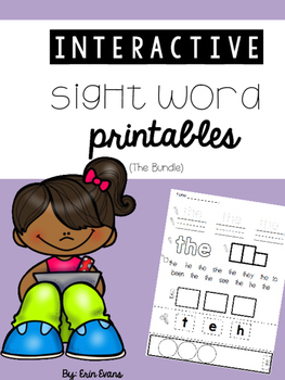 Interactive Sight Word Printables (No Prep) - 100 Fry Words