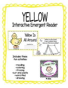 """Interactive Color Word Reader- """"YELLOW Is All Around"""""""