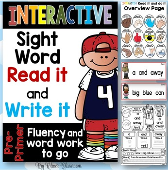 Interactive Sight Word Read it and Write it Fluency and Wo