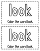 """Interactive Sight Word Reader- """"A LOOK in My Backpack"""""""