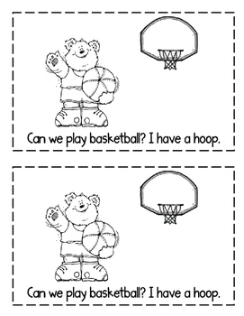"Interactive Sight Word Reader- ""CAN We Play?"""