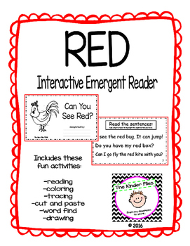 """Interactive Color Word Reader- """"Can You See RED?"""""""