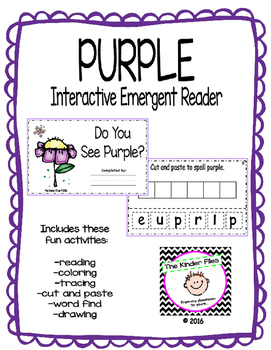 "Interactive Color Word Reader- ""Do You See PURPLE?"""
