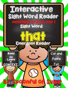 Interactive Sight Word Reader: Emergent Reader for THAT