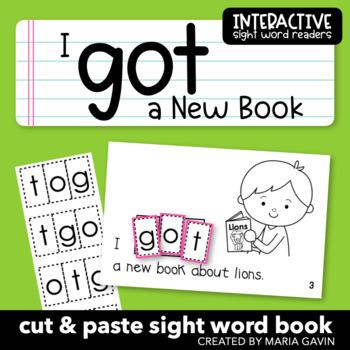 "Interactive Sight Word Reader ""I GOT a New Book"""