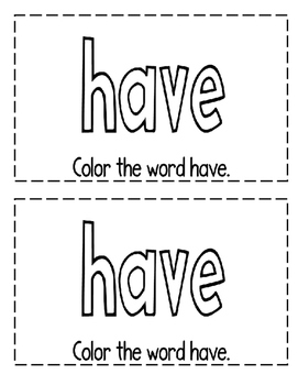 "Interactive Sight Word Reader- ""I HAVE a Job!"""