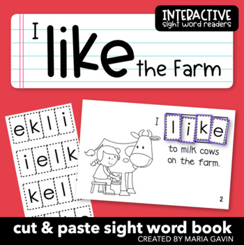"Interactive Sight Word Reader ""I LIKE the Farm"""