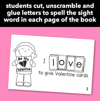 "Interactive Sight Word Reader ""I LOVE Valentine's Day!"""