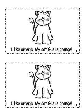 "Interactive Color Word Reader- ""I Like ORANGE"""