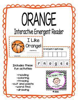 "Interactive Color Word Reader- ""I Like ORANGE"""