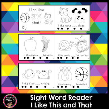 Sight Word Reader AND