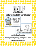 """Interactive Sight Word Reader-""""I Like to HELP!"""""""