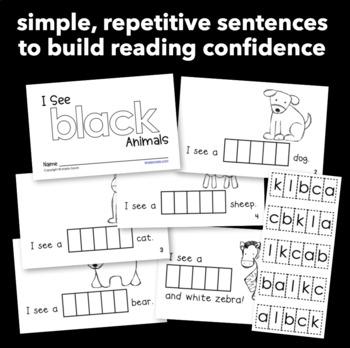 "Interactive Sight Word Reader ""I See BLACK Animals"""