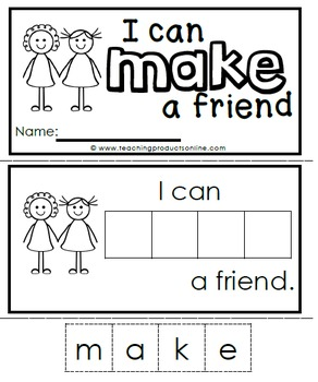 Sight Word Emergent Reader - Sight Word MAKE
