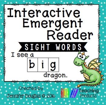 Interactive Emergent Sight Word Reader - i see a BIG dragon