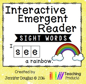 Interactive Emergent Sight Word Reader - i SEE a rainbow