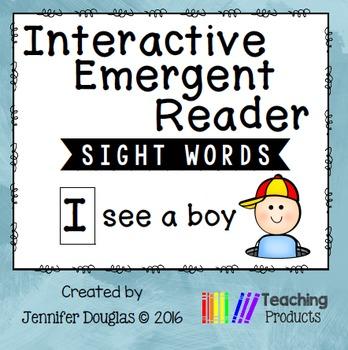 Interactive Emergent Reader - I see a boy
