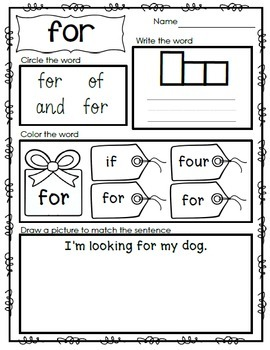 Interactive Emergent Sight Word Reader - i'm looking FOR my shoes