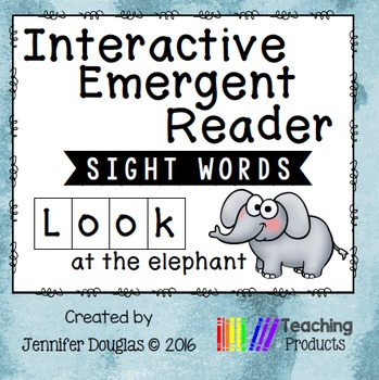 Interactive Emergent Sight Word Reader - LOOK at the elephant