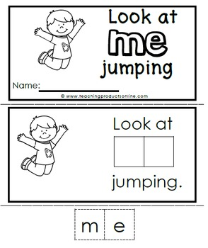 Interactive Emergent Sight Word Reader - look at ME jumping