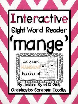 Interactive Sight Word Reader: MANGE