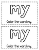 "Interactive Sight Word Reader- ""MY Camping Trip"""