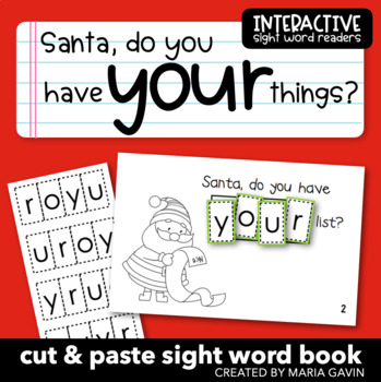 """Interactive Sight Word Reader """"Santa, Do You Have YOUR Things?"""""""