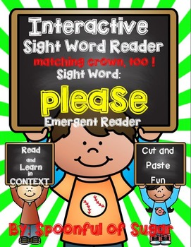 Interactive Sight Word Reader: Sight Word PLEASE