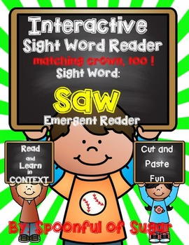 Interactive Sight Word Reader: Sight Word SAW