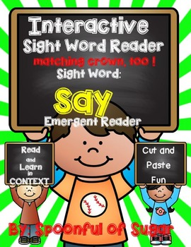 Interactive Sight Word Reader: Sight Word SAY