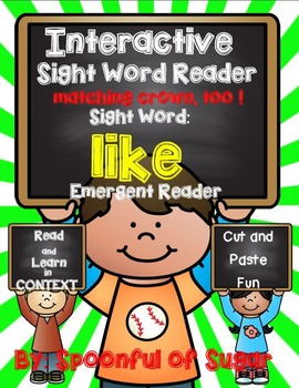 Interactive Sight Word Reader: Sight word LIKE