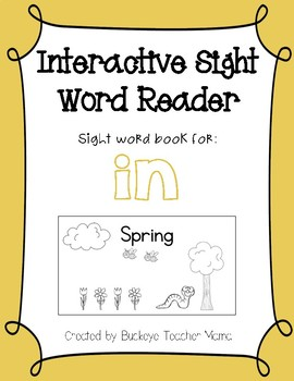 Interactive Sight Word Reader- Spring (IN)