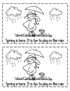 "Interactive Sight Word Reader- ""Spring IS Here"""