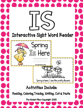 """Interactive Sight Word Reader- """"Spring IS Here"""""""