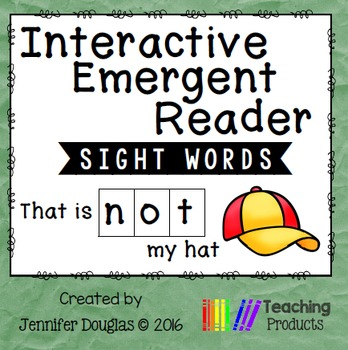 Interactive Emergent Sight Word Reader - that is NOT my hat
