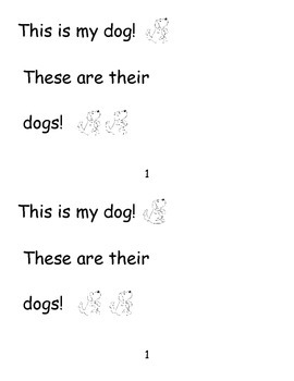Sight Word Reader  for This, These, and Their