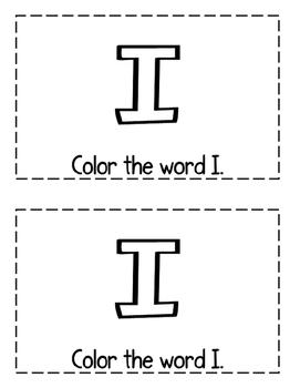 "Interactive Sight Word Reader- ""Things I Like"""