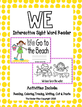 "Interactive Sight Word Reader- ""WE Go to the Beach"""