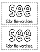 "Interactive Sight Word Reader- ""What Can I SEE?"""