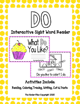 """Interactive Sight Word Reader- """"What DO You Like?"""""""