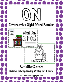 "Interactive Sight Word Reader- ""What Day Is It ON?"""
