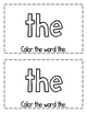"Interactive Sight Word Reader- ""What Is THE Color?"