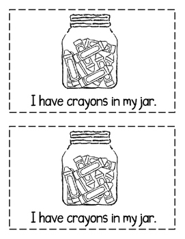 "Interactive Sight Word Reader- ""What's IN the Jar?"""
