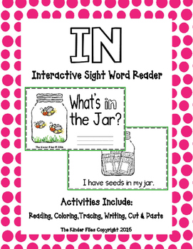 """Interactive Sight Word Reader- """"What's IN the Jar?"""""""