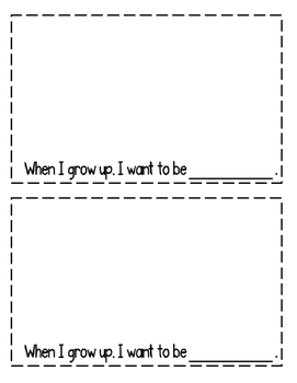"Interactive Sight Word Reader- ""When I Grow UP"""