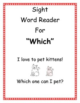 """Sight Word Reader """"Which"""""""