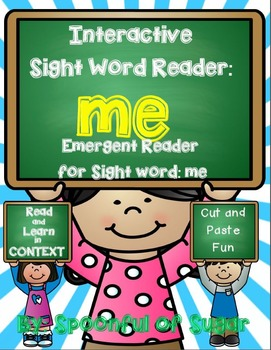 Interactive Sight Word Reader and Crown: SIght Word ME