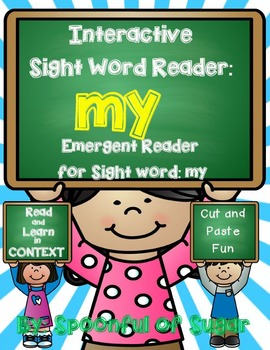 Interactive Sight Word Reader and Crown: Sight Word MY