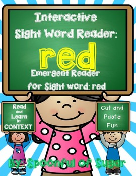Interactive Sight Word Reader and Crown: Sight Word RED